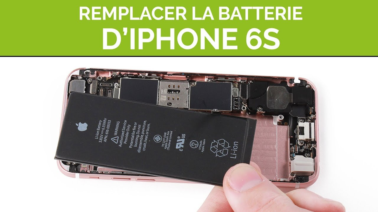 Comment Remplacer La Batterie Iphone 6s By Sosav Youtube