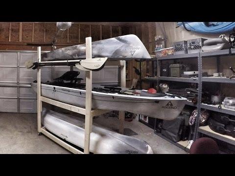 DIY Kayak Rack with wheels