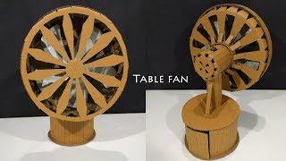 DIY Table Fan , How to make a Cardboard Table Fan | battery powered
