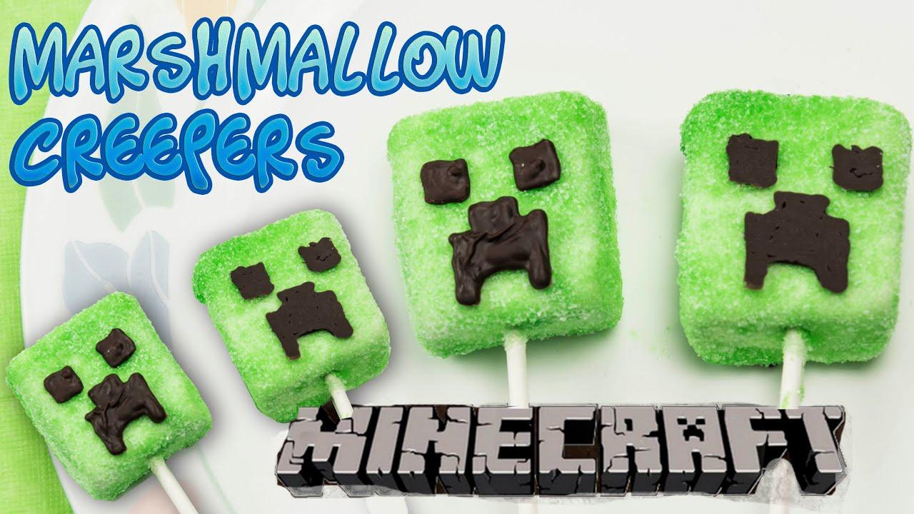 Minecraft Creeper Marshmallow Lollipop Pops Party Treats Super