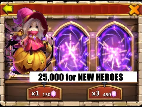 25k Gems Rolled For Wallawalla Anubis And Duplicate Heroes Castle Clash