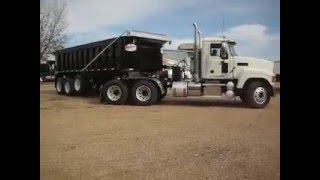 2011 Mack CHU613 Tractor & NEW Custom Tri Axle Dump Trailer