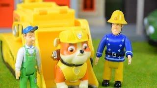 Fireman sam peppa pig videos Fire engine rescue Animation Feuerwehrmann Sam