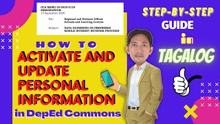 How to ACTIVATE & UPDATE Personal Information in DepEd Commons
