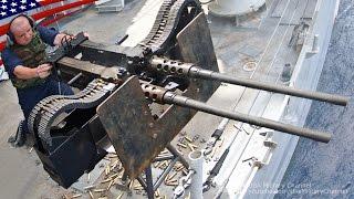 超強力な2連装ヘビー・マシンガン ブローニングM2 & M240機関銃 - Super Powerful Twin Mount Machine Gun: .50 cal M2 & M240