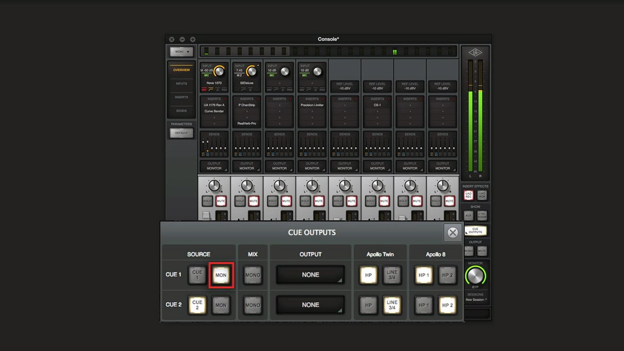 Routing DAW Tracks to Virtual Channels in Console (Mac and