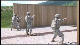 U.S. Army Africa - M9 Pistol Marksmanship Training
