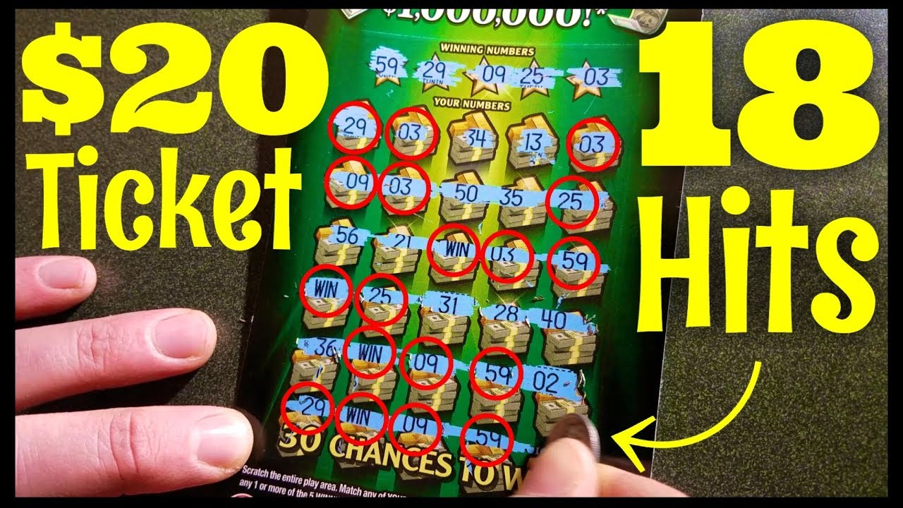 Big FAT Winner!! $1,000,000 Win Big Maryland Lottery Scratch Off Ticket 18  Hits
