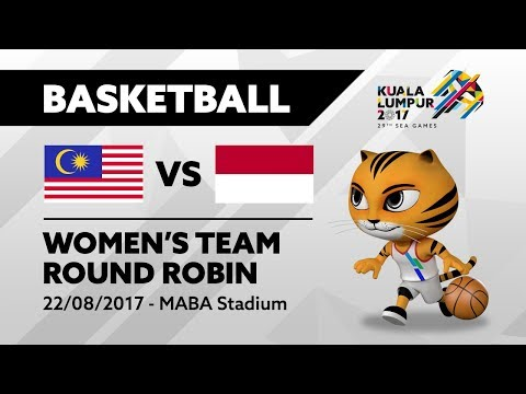 KL2017 Women's Basketball - MAS 🇲🇾 vs INA 🇮🇩 | 22/082017