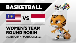 KL2017 29th Sea Games | Women's Basketball - MAS 🇲🇾 vs INA 🇮🇩 | 22/082017