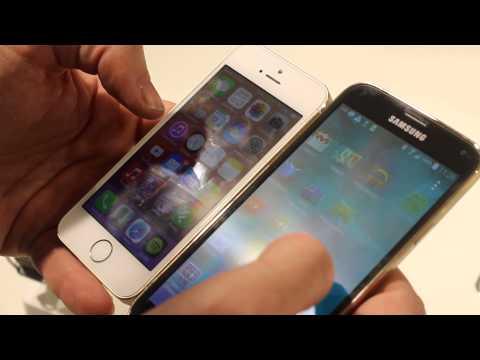 Comparazione iPhone 5S - Samsung Galaxy S5 - MWC 2014