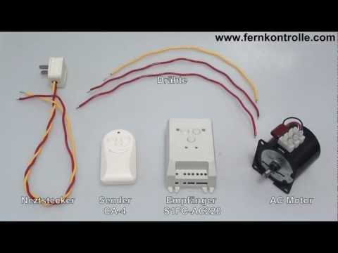 110V 220V Vorwärts & Rückwärts Funk Motorsteuerung - funk-Sender ...