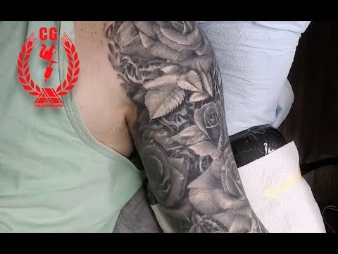 real time video  Tattoo Sleeve in progress, this is a  of how i approach a sleeve , Cris Gherman