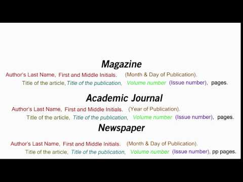 How to Cite an Article in APA Style