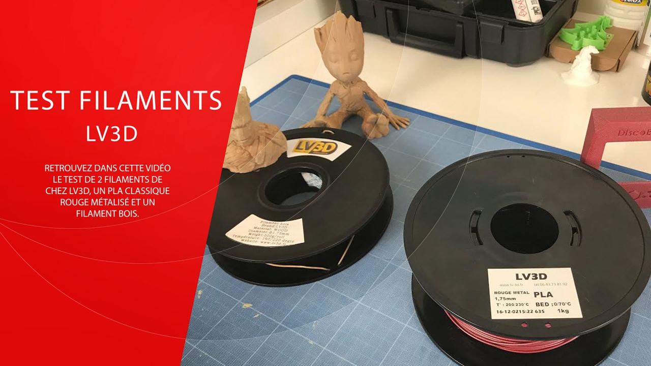 test filaments lv3d pla rouge m talis et bois youtube. Black Bedroom Furniture Sets. Home Design Ideas