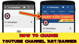 How to Change Youtube Background Photo/Channel Art ( Cover Photo) Banner on Android & ios 2019