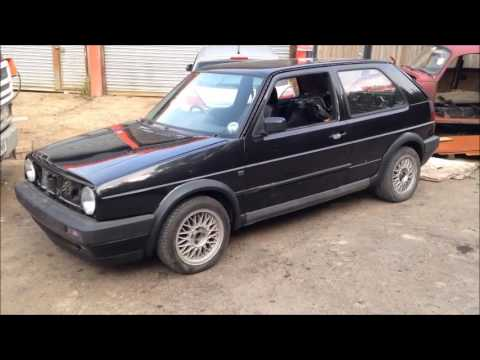 golf gti MK2 1990 transport to sprayer for finishing touches.