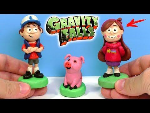 ЛЕПИМ ГРАВИТИ ФОЛЗ - ДИППЕР, МЕЙБЛ И ПУХЛЯ ИЗ ПЛАСТИЛИНА | Gravity Falls