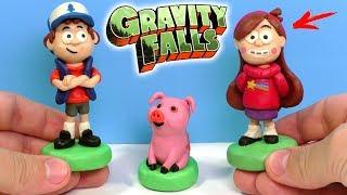 ЛІПИМО ГРАВИТИ ФОЛЗ - ДІППЕР, МЕЙБЛ І ПУХЛЯ З ПЛАСТИЛІНУ | Gravity Falls