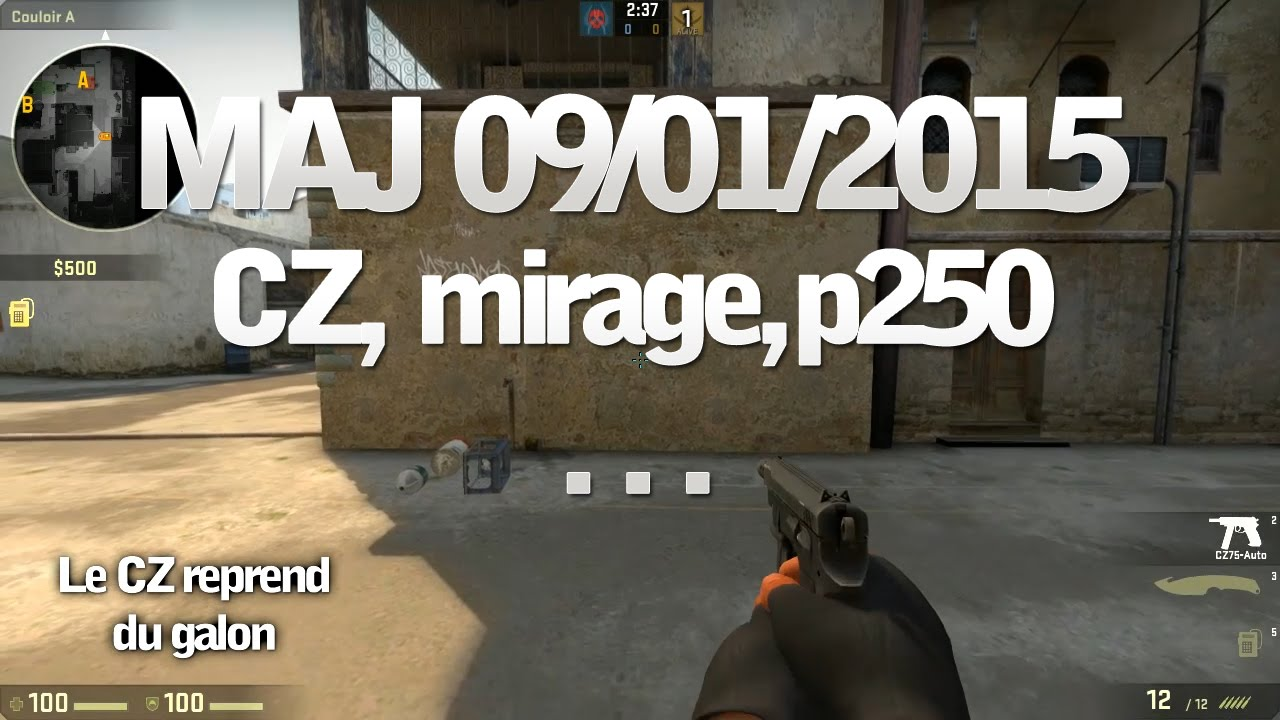 maj cs go 09 01 2015 cz caisse p250 mirage youtube. Black Bedroom Furniture Sets. Home Design Ideas