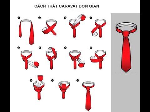 Hướng dẫn cách thắt cà vạt đơn giản đẹp