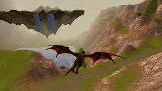 Istaria - Dragon flying over The Middling Lands and The Long Walk Pt.4 HD 1080p