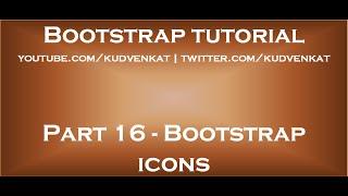 Bootstrap icons thumbnail