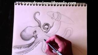 Drawing a sea monster with Paolo Morrone