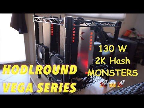 RX VEGA 6000 H/s MONERO MINING RIG! Profitability? 560 Watts!