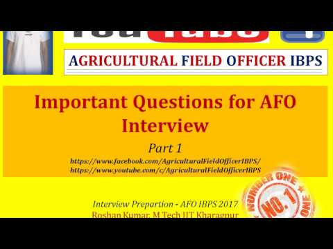 Important Questions for AFO Interview Part 1