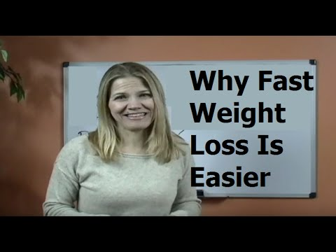 Fast Weight Loss Is Easier Than Slow Weight Loss