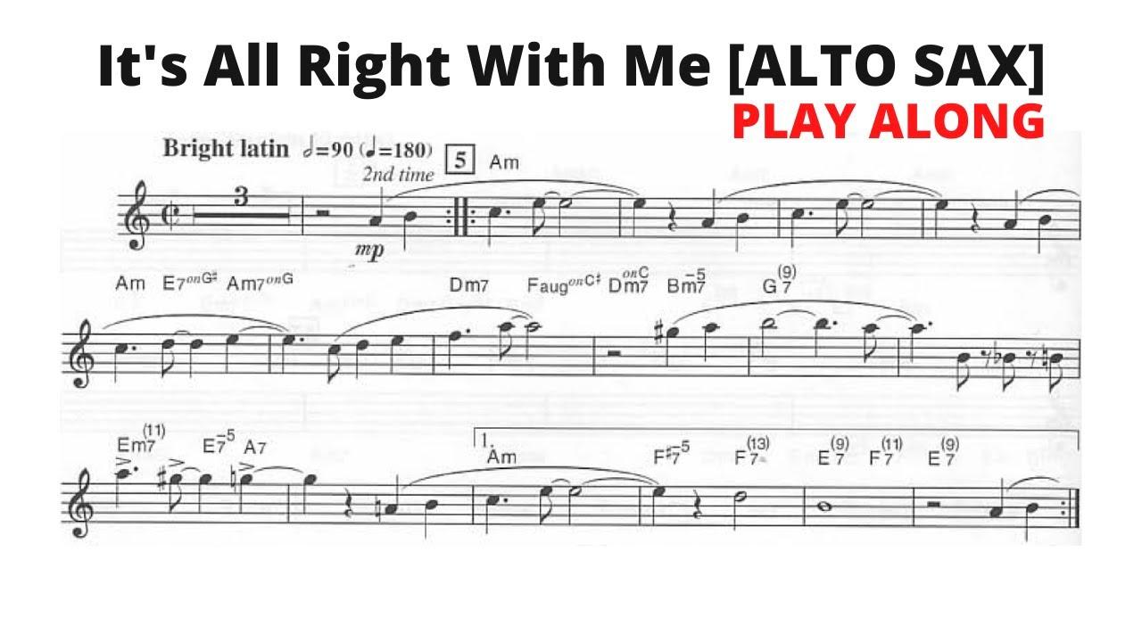 It's All Right With Me [ALTO SAX] [Cole Porter]
