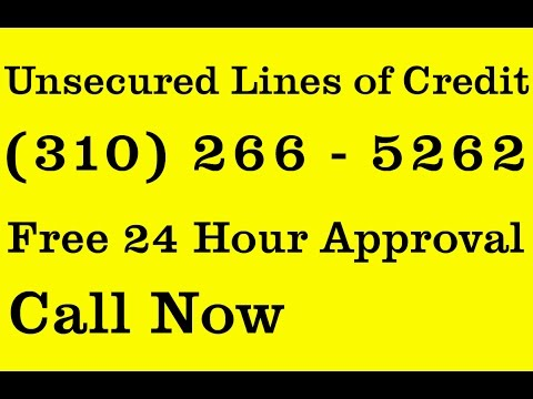 Fast Unsecured Loans | (310) 266 - 5262 | Lines of Credit $50k - $250k Texas