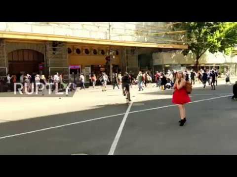 Australia: Immediate aftermath of Melbourne SUV crash caught on camera