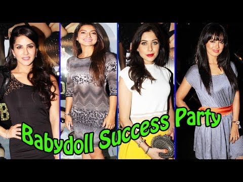 """Success Party For Song """"Babydoll""""   Sunny Leone, Guahar Khan"""
