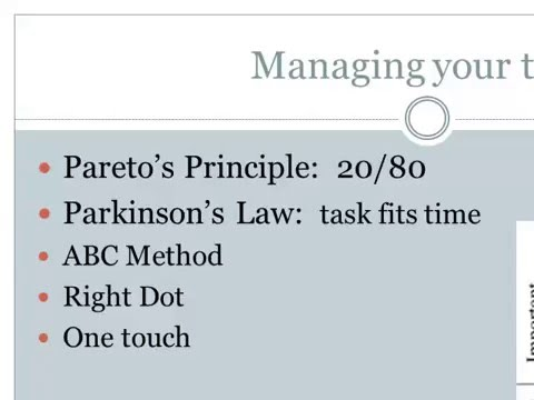 Time Management Lecture
