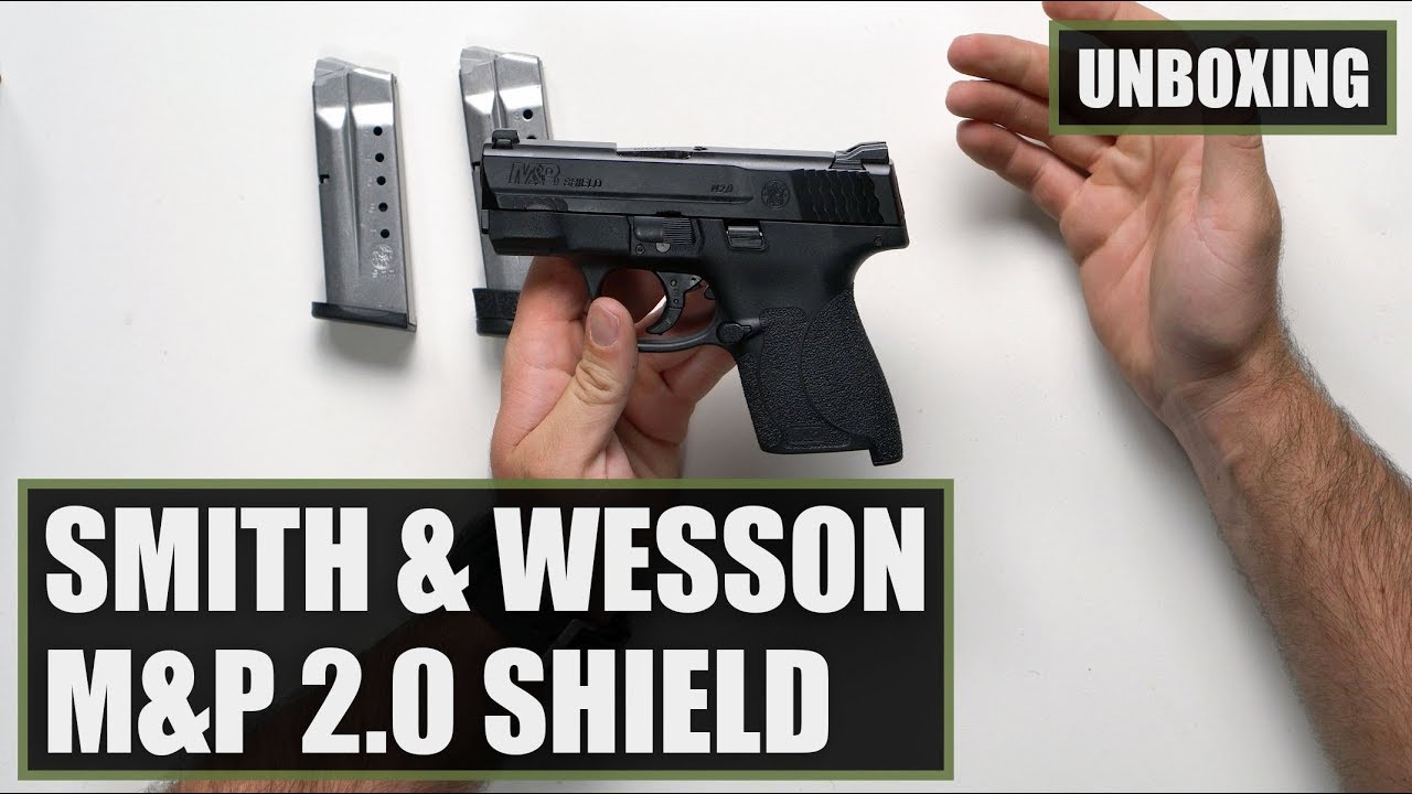 Smith And Wesson 12039 Unboxing: Unboxing The Smith And Wesson M&P9 Shield 2.0 9mm Pistol