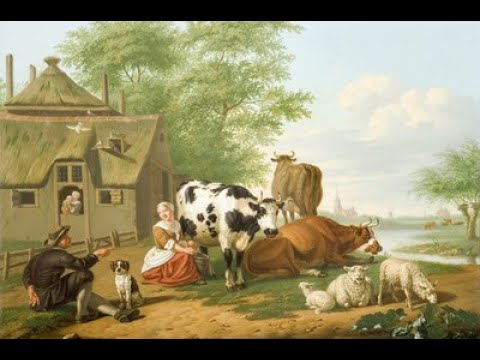 Pretty Maid Milking a Cow
