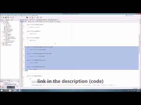 MVC web application (JSP-MySQL) - Login/Register Example in NetBeans
