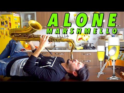Marshmello - ALONE [Saxophone, Glass Cups Cover]
