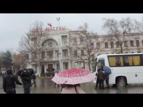Отправка автобусов из Севастополя