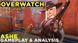 New Overwatch Hero ASHE — Gameplay & Ability Analysis!