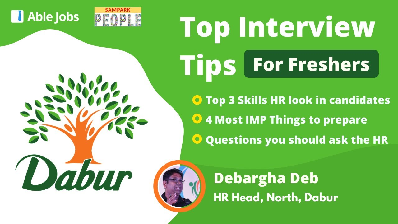 Interview Tips from DABUR's HR Head | HR Interview secrets | Fresher Interview question and answer
