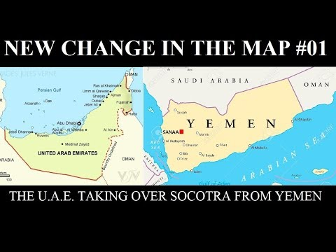 Location Of Yemen On World Map.New Change In The Map 01 U A E Taking Socotra From Yemen Youtube