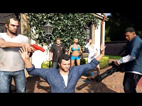 GTA V Franklin And Trevor Kill Michael