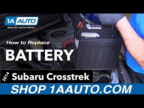 How to Replace Battery 14-17 Subaru Crosstrek