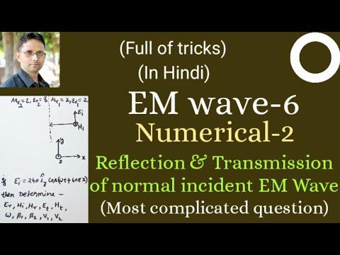 Numerical on Reflection and Transmission of normally incident EM wave (EMT-56) by SAHAV SINGH YADAV
