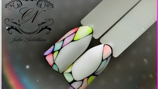 ♥Игра цветов в дизайне. Отличный вариант летнего маникюра♥