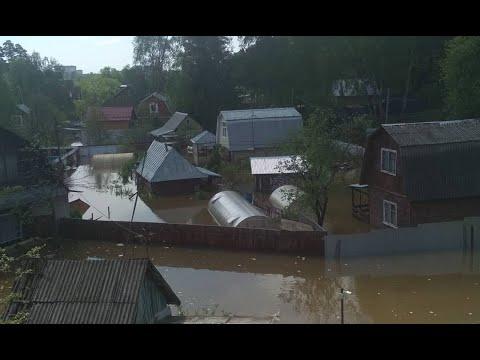 Наводнение в Подмосковье! Рекордные ливни подтопили Нахабино.