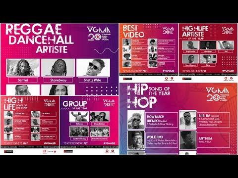 Full List: Vodafone Ghana Music Awards (VGMA) 2019 Nominees (Official Nominations)